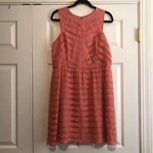 [LOFT] Sleeveless Coral Fit & Flare Dress